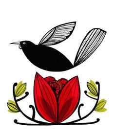 """Kaka Tui"" by Print Emporium Diy Artwork, Artwork Ideas, Mural Ideas, Tui Bird, Maori Designs, Tattoo Designs, Tattoo Now, Kiwiana, Plant Art"