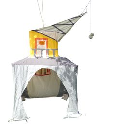 Crane, play tent made by Hanging Houses for Bollekesfeest in Antwerp Antwerp, Tents, Crane, Outdoor Gear, Houses, Play, Shopping, Teepees, Homes