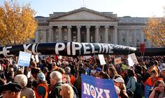 November 2011: 10,000 people encircle the White House to send a peaceful and lawful message urging the President to reject Keystone XL.