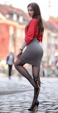 Fashion Tights, Women's Fashion Dresses, Skirt Fashion, Office Fashion Women, Womens Fashion For Work, Sexy Skirt, Dress Skirt, Lace Skirt, Dress Picture