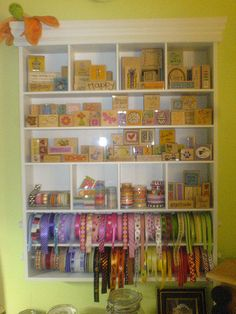 Scrapbook Room Storage - Ribbon and Stamps