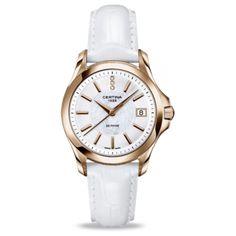 Sin duda este reloj Certina – Official Page de señora con la esfera blanca nácar y tres diamantes enamorará a más de una.  http://www.alfonsojoyeros.es/relojes-certina/46628-reloj-certina-senora-c0042103611600-7612307133874.html