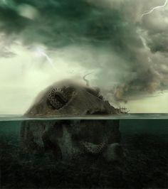 Giant Sea Monsters Den by =PSHoudini on deviantART