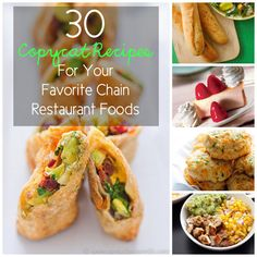 #food 30 Copycat Recipes For Your Favorite Chain Restaurant Foods - Food Drink