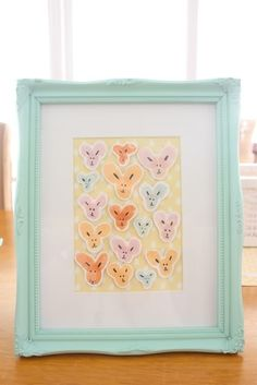 Such a cute project- each bunny head is made by a thumb print and two finger prints for ears. I'm thinking Easter cards……
