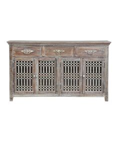 Take a look at this Intricate Whitewash Three-Drawer Buffet on zulily today!