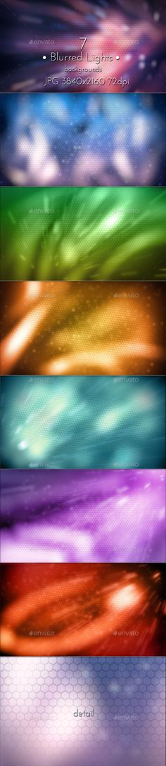 Blurred Lights Background by cinema4design on Graphicriver, Blur Modern Techno Wallpaper, Blurred Lights Backdrops.