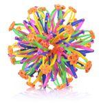 Een vergrootbare/uitrekbare bal. Bestaat uit allemaal kunststof armpjes en scharnieren waardoor je de bal groter en kleiner kunt maken door deze uit te trekken en in elkaar te duwen.