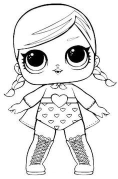 Pin by Kathy Smith on lol Barbie Coloring Pages, Unicorn Coloring Pages, Cute Coloring Pages, Coloring Pages For Girls, Cartoon Coloring Pages, Animal Coloring Pages, Coloring For Kids, Coloring Sheets, Coloring Books