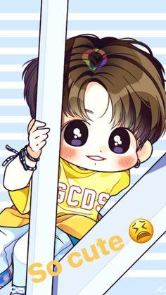Jungkook Jungkook Fanart, Jungkook Cute, Kpop Fanart, Chibi Bts, Anime Chibi, Cartoon Wallpaper, Bts Wallpaper, K Pop, Kpop Drawings