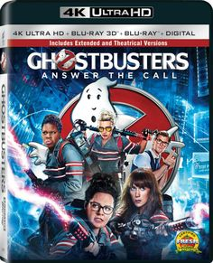 GHOSTBUSTERS Extended Edition 4K Blu-ray / DVD / Digital HD Release Date Details: Paul Feig's Ghostbusters (2016)… #Ghostbusters #Bluray