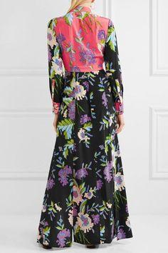 Diane von Furstenberg - Floral-print Silk Crepe De Chine Maxi Dress - Pink - US2