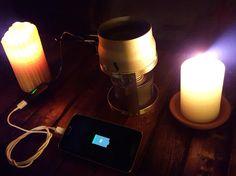 Una vela que recarga la batería de tu smartphone