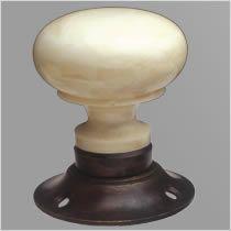 Classic Porcelain Bone Turning Door Knob