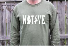 Michigan Native Shirt Mens Long Sleeve Michigan by RoyalMajesTees