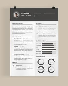 Resumes the best resume template free sample and job description Online Resume Template, Indesign Resume Template, Best Free Resume Templates, Free Professional Resume Template, Modern Resume Template, Cv Template, Adobe Indesign, Psd Templates, Adobe Photoshop