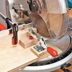 Cut Small Parts Safely | Woodsmith Tips. I LOVE this idea!