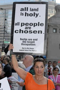 Jewish voice for peace. Bless those Jews who choose to stand up against oppression.