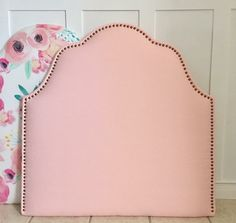 Twin Upholstered Headboard Pink by LollyandJune on Etsy https://www.etsy.com/listing/498928466/twin-upholstered-headboard-pink