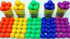 Learn Colors Play Doh Balls Animal Disney Princess Ice Cream Paw Patrol ...