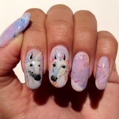 OMG! Unicorn Nails! Photo by hana4 • Instagram