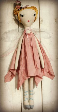 Handmade linen fairy doll, Original design, 75cm tall, Beautiful in a child's room and sturdy for play