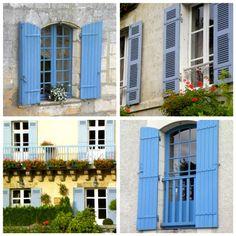 teal/blue Shutter Colors, Teal Blue, Shutters, Garage Doors, Outdoor Decor, Home Decor, Blinds, Shades, Decoration Home