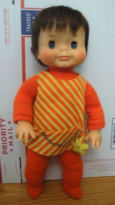 """VINTAGE 60'S IDEAL 18"""" POSIE LILY DOLL BRUNETTE ORIGINAL  RARE FIND EC  #Ideal #DollswithClothingAccessories"""