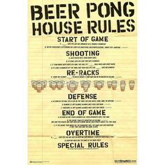 Beer Pong Beer Pong Rules, Pong Game, Brew Your Own, How To Make Beer, Homemade Beer, House Rules, Drinking Quotes, Beer Brewing, Original Image