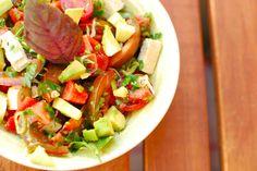 Wassermelonen-Salat mit Ingwerdressing - so etwas kreatives kann sich nur Cookies & Style überlegen!