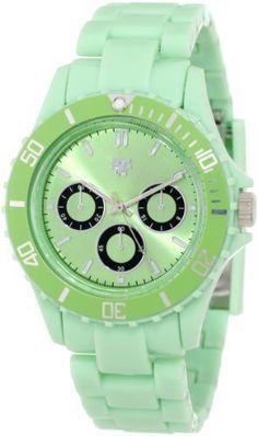 "Fancy Face Women's FF249GR Candy Collection ""Fergie"" Light Green Multi Eye Plastic Bracelet Watch Fancy Face. $24.95. Water-resistant to 99 feet (30 M). Unidirectional sport bezel. Faux 3-eye sunray dial. Distinctive eye catching gift box. Japanese movement"