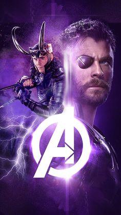 #Loki #Thor #Avengers: #InfinityWar. Artwork by zoechen384.tumblr