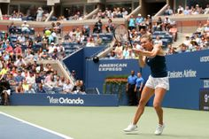 Halep vs. Babos   September 3, 2016 - Simona Halep in action against Timea Babos during the 2016 US Open at the USTA Billie Jean King National Tennis Center in Flushing, NY.