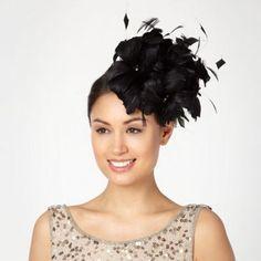 07be6a1dd61 J by Jasper Conran Designer black floral feather head band
