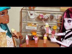 Como fazer sorvete (de cola quente) para boneca Monster High, Barbie, etc - YouTube