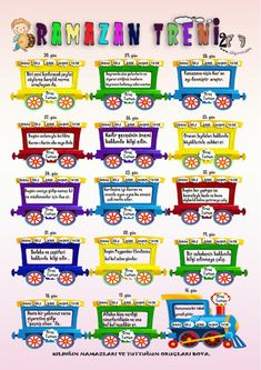 Ramadan Activities, Activities For Kids, Arabic Alphabet For Kids, Learn Turkish, Islam For Kids, Islamic Love Quotes, Kids Education, Teaching, How To Plan
