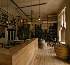 Designed by Czeck studio Aulík Fišer Architekti, the Red Pif Restaurant and Wine Shop is a must-see and try when in Prague. The interiors are a modern interpretation of a classic french wine bar an…