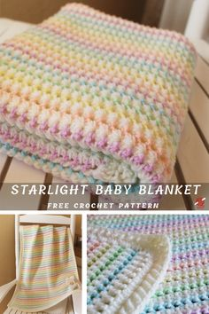 Adorable Starlight Baby Blanket Free Pattern – Knit And Crochet Daily Adorable Starlight Baby Blanket Free Pattern – Knit And Crochet Daily Crochet Baby Blanket Free Pattern, Baby Afghan Crochet, Crochet Stitches Patterns, Free Crochet, Knitting Patterns, Knit Crochet, Baby Afghan Patterns, Crochet Blankets, Knitting Baby Blankets