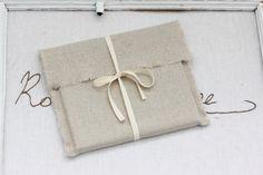 CD packaging - linen fabric envelopes