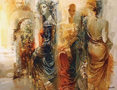Roman Garassuta was born in Moscow in 1958 and studied at the Beaut-Arts before returning to the Ukraine. He quickly gained phenomenal s. Roman, Open Art, Pressed Flower Art, Paul Gauguin, Beautiful Paintings, Modern Paintings, Figurative Art, Dark Art, Oeuvre D'art