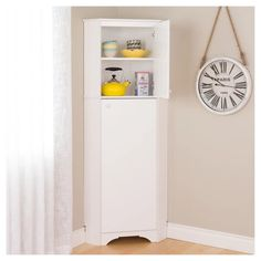 Elite Tall 2 - Door Corner Storage Cabinet - White - Prepac : Target