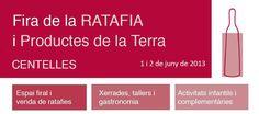 Informació bàsica de la Fira de la Ratafia i productes de la terra de Centelles - 1 i 2 de juny de 2013 Juni, Boarding Pass, Gastronomia