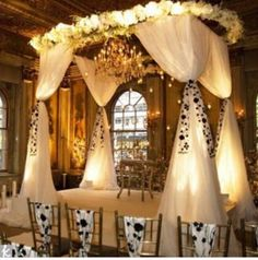 I must have a wedding canopy. I just pray it's as over the top and gorgeous as this one.