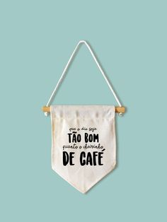 Flâmula Café - PEQUENA Wall Banner, Bunting Banner, Art Decor, Decoration, Neon Room, Sewing Projects, Diy Projects, Chalkboard Lettering, Linen Bag