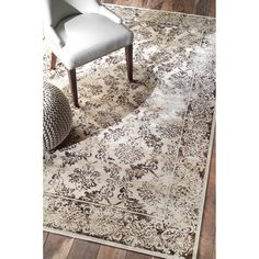 nuLOOM Oriental Vintage Viscose Traditional Fancy Ivory Rug (5' x 8') - Overstock Shopping - Great Deals on Nuloom 5x8 - 6x9 Rugs
