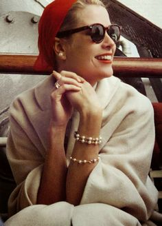1956: Grace Kelly aboard the SS Constitution on her way to get married in Monaco