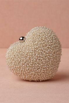 Beaded heart clutch
