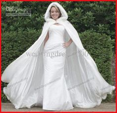 Wholesale Bridal Wraps & Jackets - Buy White Faux Fur Warmer Winter Customed Long Bridal/Weeding Outwear/Shawl/Cloak-with-hood