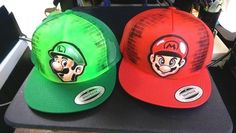 Super Mario Bros. - Airbrushed Hat #Anvil #PersonalizedHat