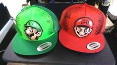 Super Mario Bros. - Airbrushed Hat #Anvil #PersonalizedHat